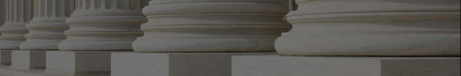 Header image - columns on an institutional building