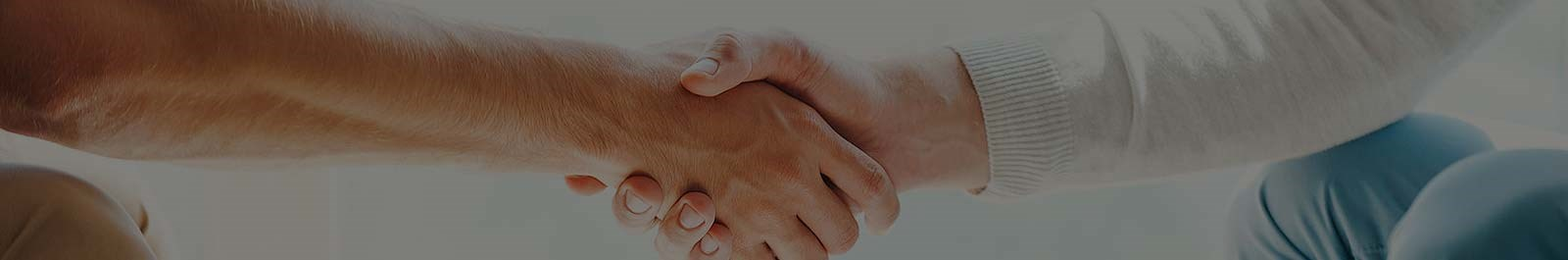 Header image - closeup of two people shaking hands upon meeting