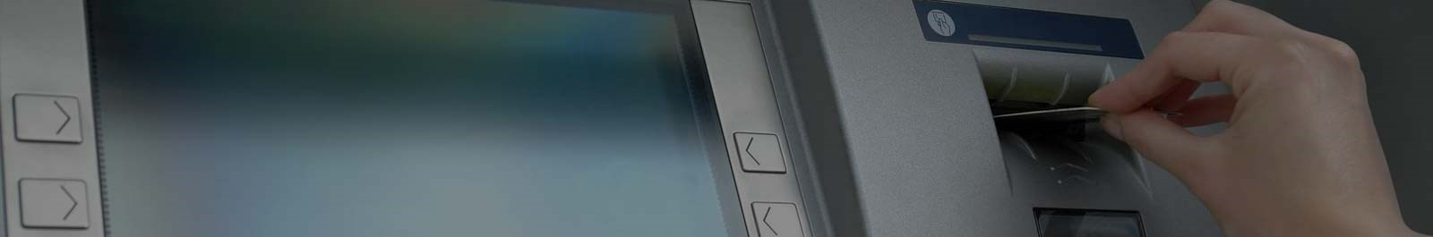 Header image - closeup of an ATM screen