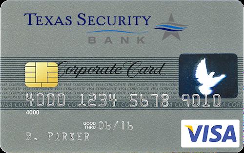 image of sample corporate credit card - Visa Corporate Card