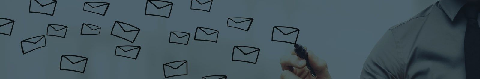 Header image - concept of sending communications