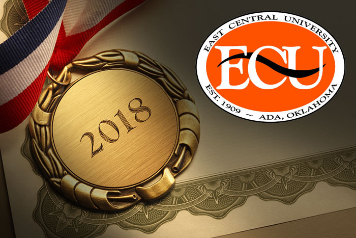 News thumbnail image - image representing award from East Central University in Ada Oklahoma