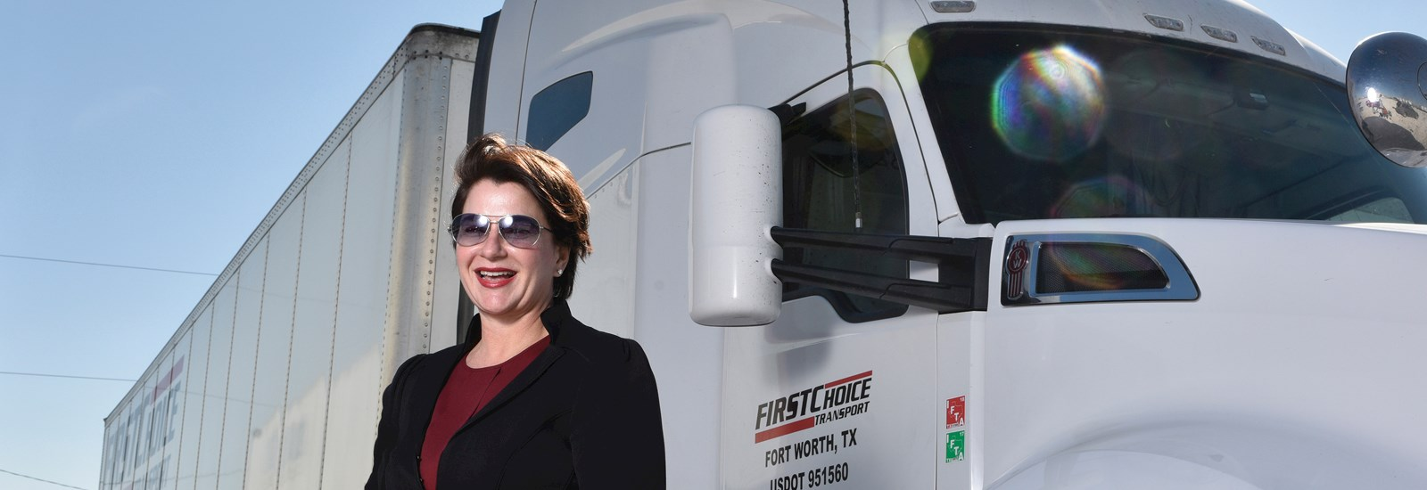 Photo of Carla Luig, CEO of First Choice Transport